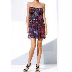 Bcbg MaxAzria Beaded Empire Waist Silk Mini Dress